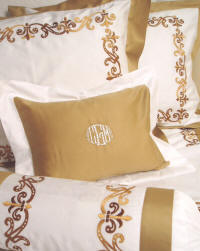 Customized Couture Embroidered Bed Linens, Sheets & Bed Coverings Made To Your Specifications!