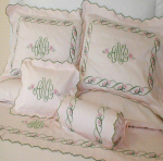 Monogram and Custom Embroidered Luxury Bed Linens