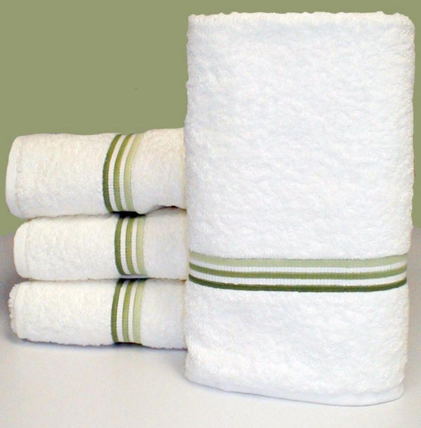 3 Line Embroidered Luxury Hotel Style Bath Towels