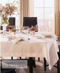 Classico fine hemstitch Italian linen napkins, placemats, cocktail napkins, table cloths and table runners.
