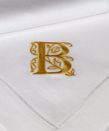 Tivoli-Monogrammed Guest Towels and Table Linens