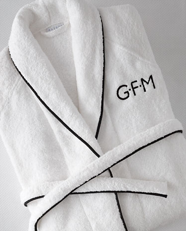 Add a monogram to any of our robes or pajamas for a great personalized gift!