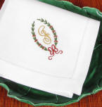 Christmas Gifts featuring Claire monogrammed napkins and guest towel sets.