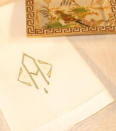 Signature Addison Monogrammed Table Linens