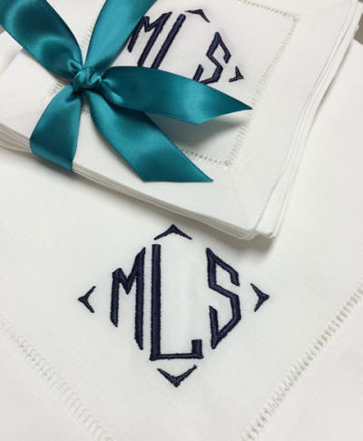 Signature Richard Monogrammed Table Linens