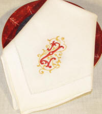 Signature Esme Monogrammed Table Linens