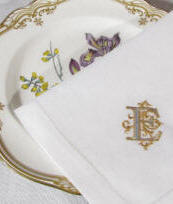 Signature Venezia Monogrammed Table Linens