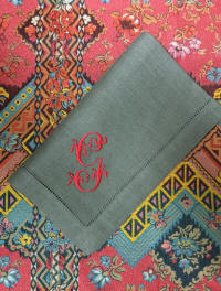 Gianna Signature Colour Monogrammed Linen Napkins