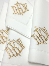 Isabella Signature Monogrammed Napkins, Placemats and Guest Towels