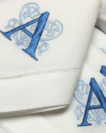 Tivoli monogrammed napkins and guest towels