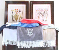 Luxurious Pezzo Fringed Throw with Monogram